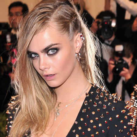 Punk hair and makeup at MET BAll 2013