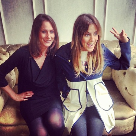 Caroline Flack goes back to dip dye hair