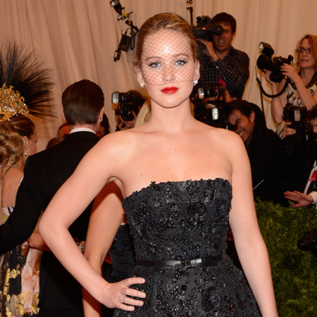 Jennifer Lawrence wears Dior at 2013 met ball