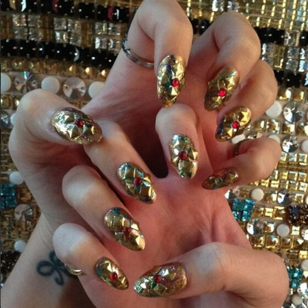 Katy Perry punk nails for 2013 met ball