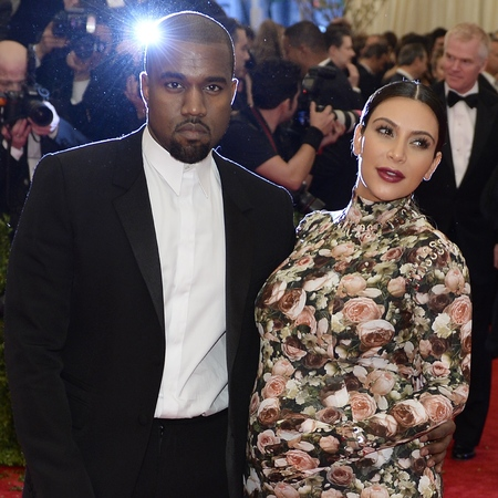 Kim Kardashian and Kanye West at 2013 met ball