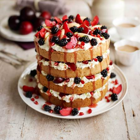 Masterchef layered pear cake