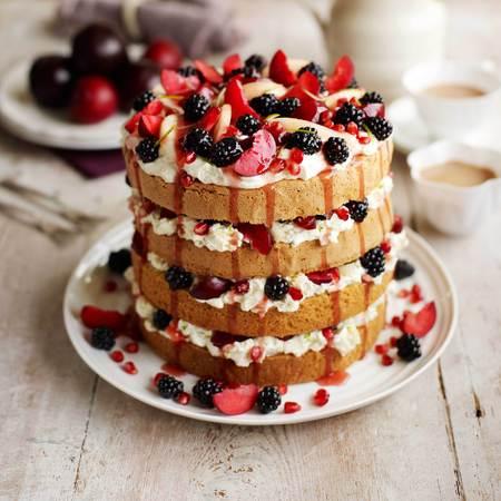 Masterchef layered pear cake