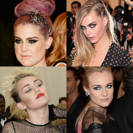 Hair and Makeup at Punk themed Met Ball 2013