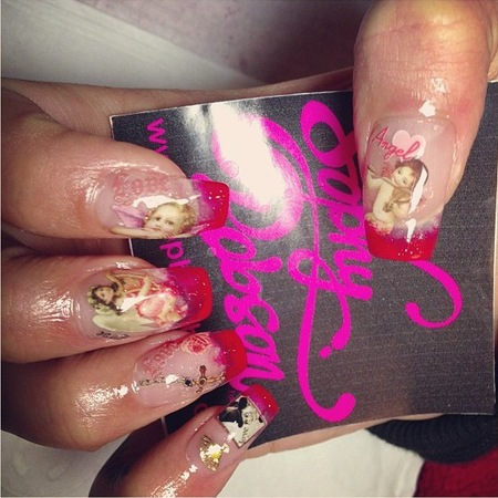 Rita Ora bespoke nail art by Sophy Robson