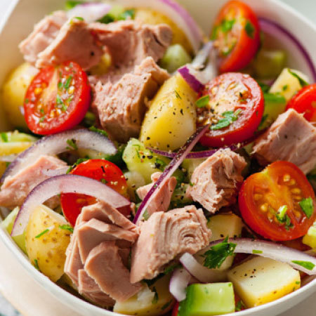 Tuna and potato salad