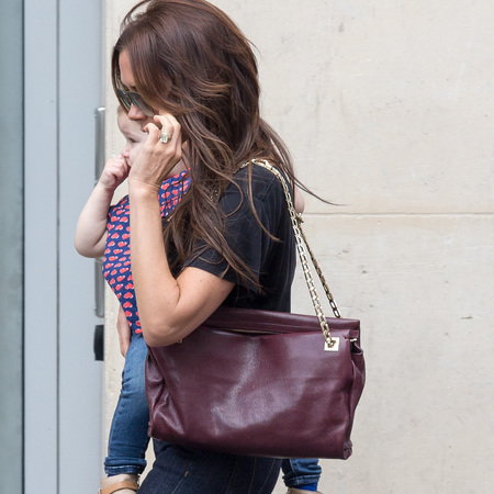 Victoria Beckham's ox blood shoulder bag