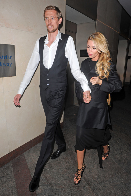 Abbey Clancy and Peter Crouch attends Spurs gala dinner