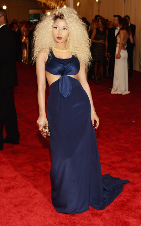 Nicki Minaj wears Tommy Hilfiger at the Met Ball 2013