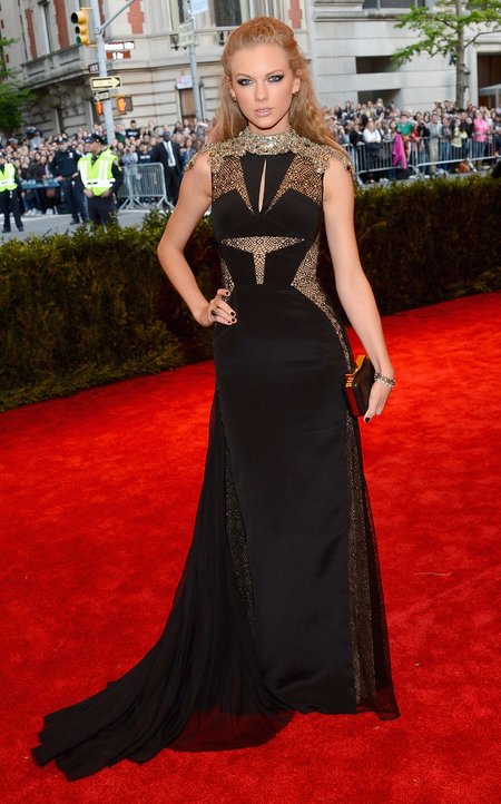 Taylor Swift wears J. Mendel at Met Ball 2013