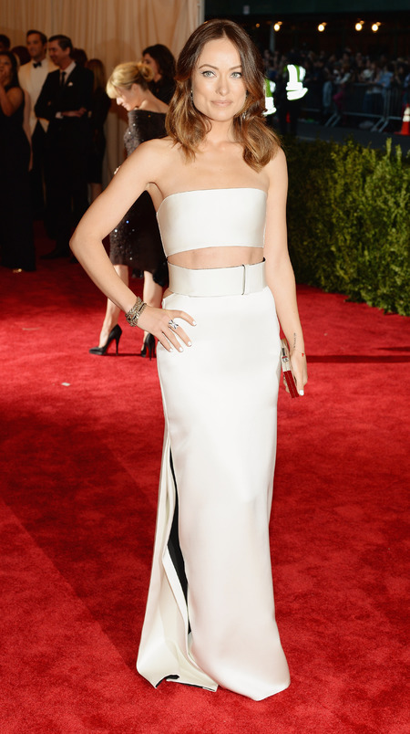 Olivia Wilde in Calvin Klein dress at Met Ball 2013