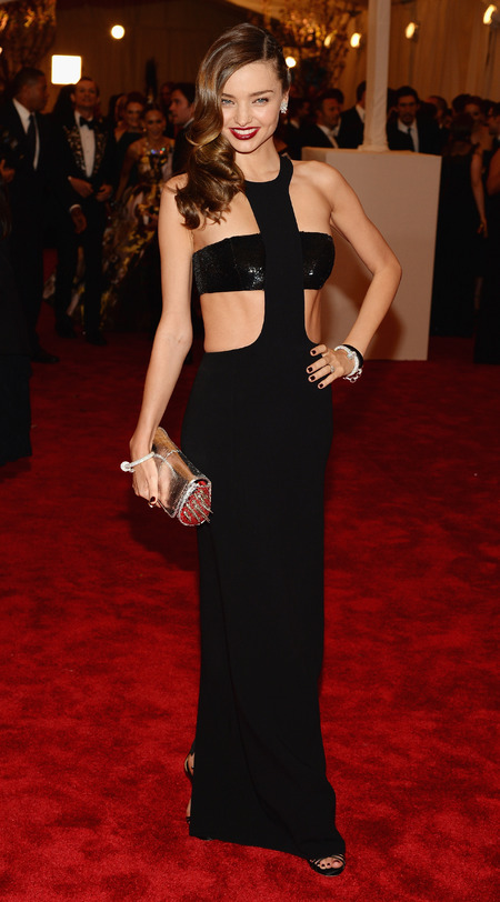 Miranda Kerr in Michael Kors dress at Met Ball 2013