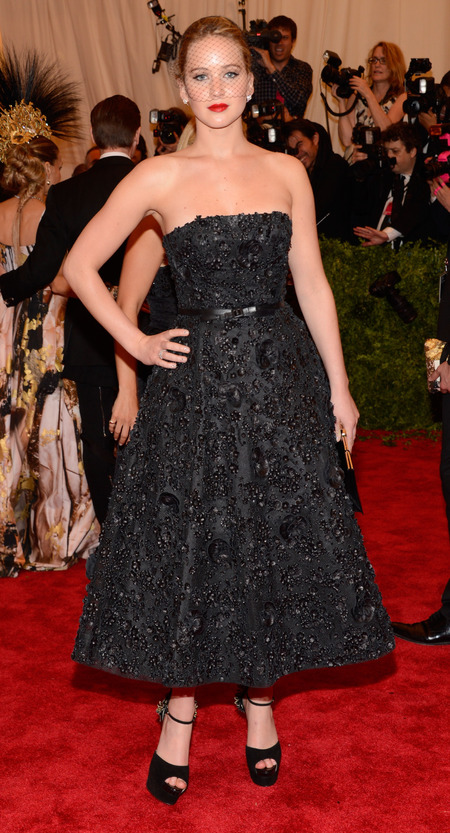 Jennifer Lawrence wears Dior at Met Ball 2013