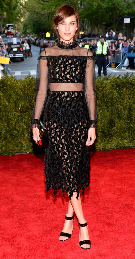 Alexa Chung in Erdem dress at Met Ball 2013