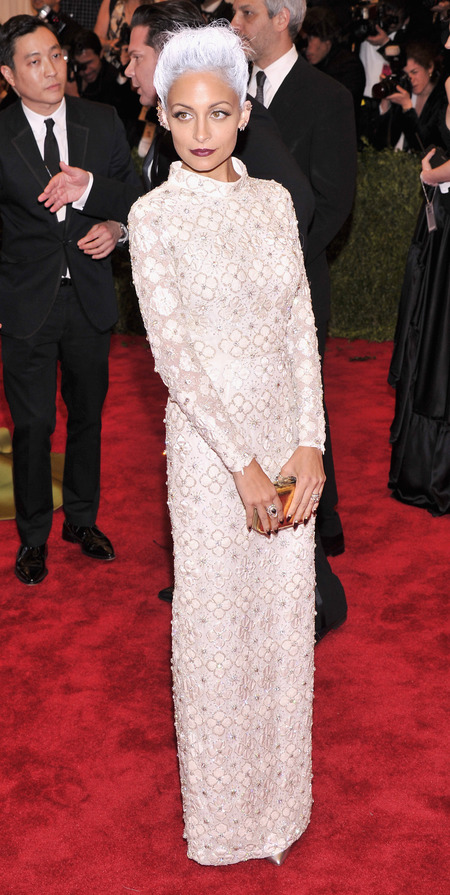Nicole Richie in custom Topshop at Met Ball 2013