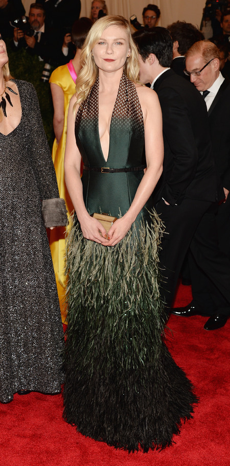 Kirsten Dunst wears Louis Vuitton dress at Met Ball 2013