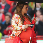 Very pregnant Coleen supports Wayne