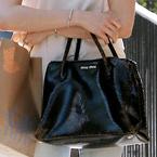 CELEB BAGS: Sienna Miller's Miu Miu Craquele