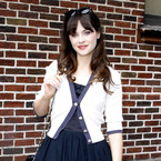Zooey Deschanel is queen of vintage for David Letterman