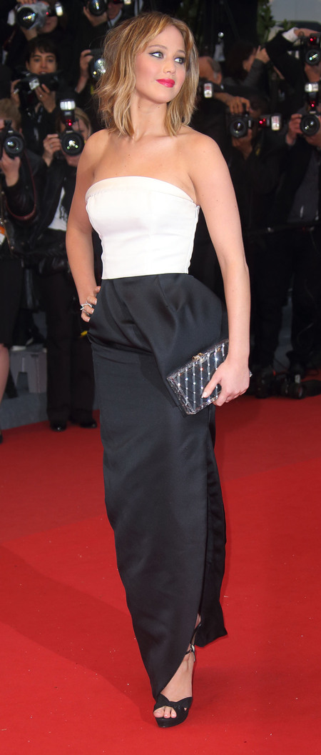 Jennifer Lawrence: Black and White Dior at Cannes