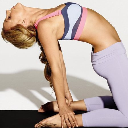 Celebrities doing yoga