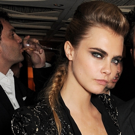 Cara Delevingne's quiff and plait