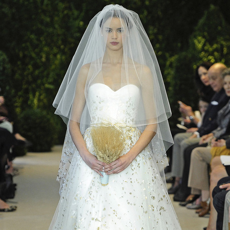 Carolina Herrera wedding dress SS14 catwalk