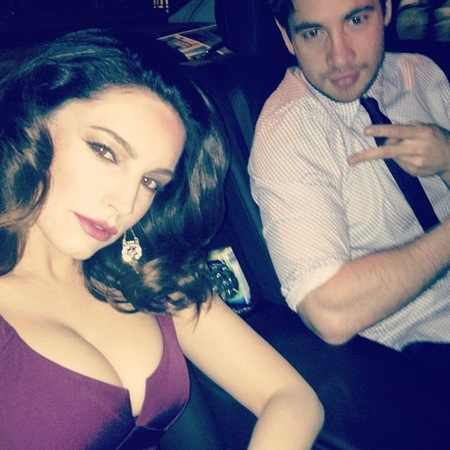 Kelly Brook and Danny Cipriani on their way to Celebrity Juice 2013 wrap party