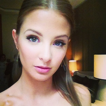 Millie Mackintosh does pink lips at BAFTA TV Awards 2013