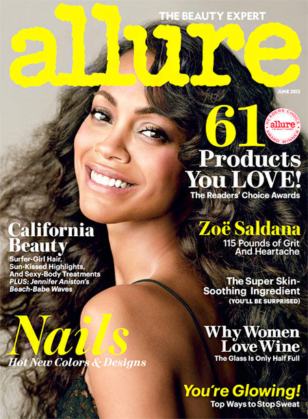 Zoe Saldana naked in Allure