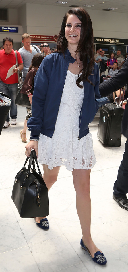 Lana Del Rey arrives at Nice airport for Cannes Film Festival 2013