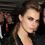 CANNES: Cara Delevingne rocks a quiffed braid