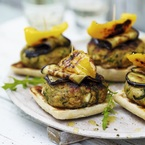 Vegetarian Halloumi and Courgette Burgers