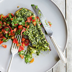 Aubergine with Cashew Pesto recipe