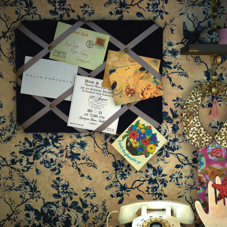 Fabric and ribbon noticeboard from Pearl Lowe's Vintage Craft