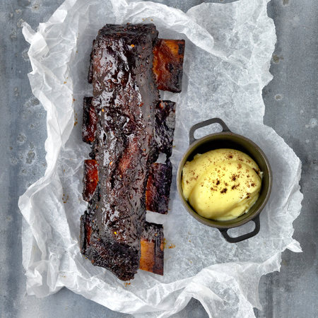 Coffee glazed short ribs