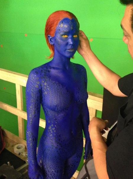 Jennifer Lawrence as Mystique in X Men