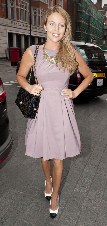 Lydia Bright attends Fashion and Textile Awards in London