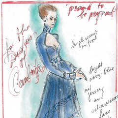 Designers sketch Kate Middleton maternity dresses for WWD