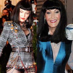 Madonna and Hilary Devey
