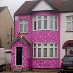 Honeymoon couple return to pink Mr Blobby house prank