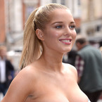 Helen Flanagan is all boobs at PETA photocall