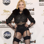 Madonna hits Billboard Music Awards in suspenders