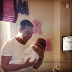 Marvin Humes cooes over daughter Alaia-Mai