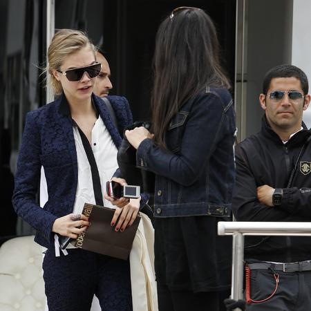 Cara Delevingue in Cannes
