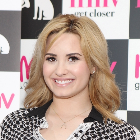 Demi Lovato at HMV London signing