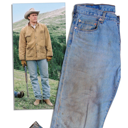 Heath Ledger's jeans from Brokeback Mountain go on sale