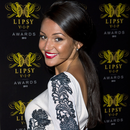 Michelle Keegan's low ponytail at Lipsy party