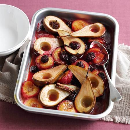 Roasted fruit desert
