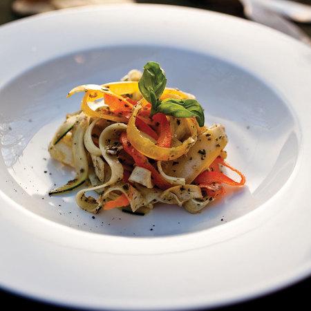 Squash pasta and sage pesto
